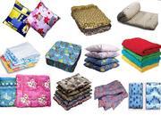 подушки,  одеяла,  покрывала,  матрасы.